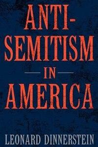 Book Antisemitism in America by Leonard Dinnerstein