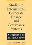 Book Studies in International Corporate Finance and Governance Systems: A Comparison of the U.S., Japan… by Donald Chew