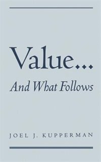 Book Value... And What Follows by Joel J. Kupperman