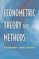 Book Econometric Theory and Methods by Russell Davidson