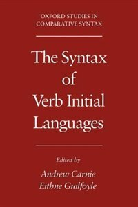 Book The Syntax of Verb Initial Languages by Andrew Carnie