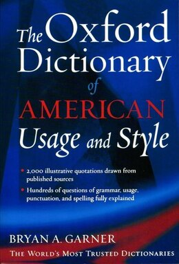 Book The Oxford Dictionary of American Usage and Style by Bryan A. Garner