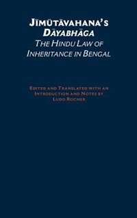 Book Jimutavahanas Dayabhaga: The Hindu Law of Inheritance in Bengal by Ludo Rocher
