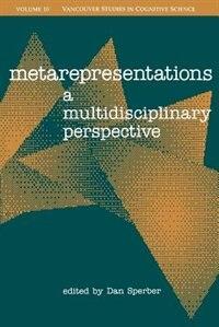 Book Metarepresentations: A Multidisciplinary Perspective by Dan Sperber