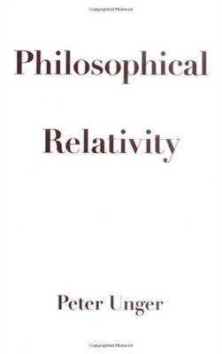 Book Philosophical Relativity by Peter Unger