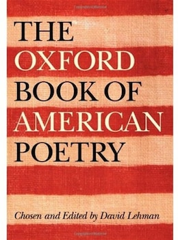 Book The Oxford Book of American Poetry by David Lehman