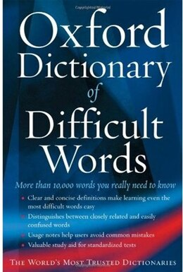 Book The Oxford Dictionary of Difficult Words by Archie Hobson