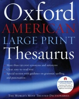 Book The Oxford American Large Print Thesaurus by Oxford