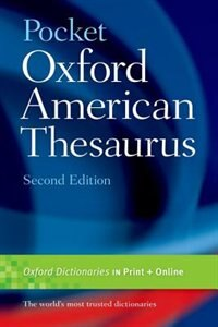 Book Pocket Oxford American Thesaurus by Oxford