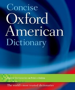 Book Concise Oxford American Dictionary by Oxford
