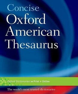 Book Concise Oxford American Thesaurus by Oxford