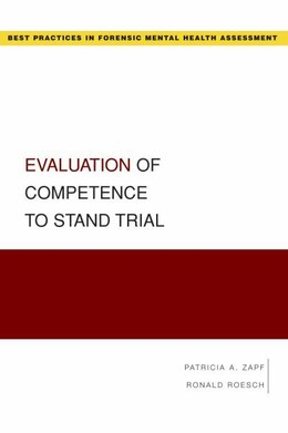 Book Evaluation of Competence to Stand Trial by Patricia Zapf