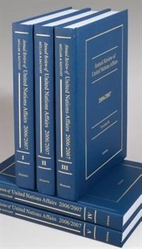 Book Annual Review of United Nations Affairs: 1996 To Present 34 volumes by Joachim W. Muller