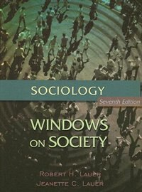 Book Sociology: Windows on Society: An Anthology by Robert H. Lauer
