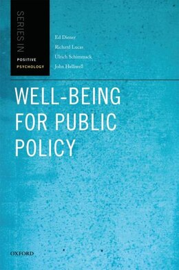 Book Well-Being for Public Policy by Ed Diener
