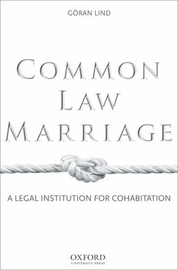 Book Common Law Marriage: A Legal Institution for Cohabitation by Goran Lind
