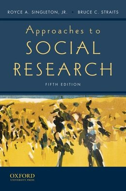 Book Approaches to Social Research by Royce A. Singleton