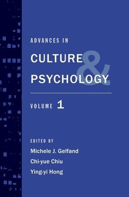 Book Advances in Culture and Psychology: Volume 1 by Michele J. Gelfand