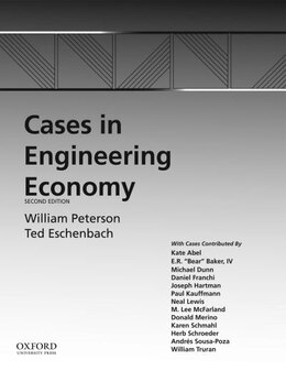 Book Cases in Engineering Economy by William R. Peterson