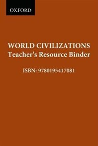 Book World Civilizations: A Comparative Study: Teachers Resource Binder by Oxford