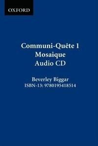 Book Communi-Quete: 1 Mosaique: CD by Irene Bernard