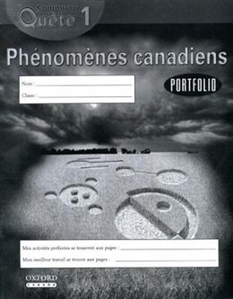 Book Communi-Quete: 1 Phenomenes canadiens: Student Workbook by Irene Bernard