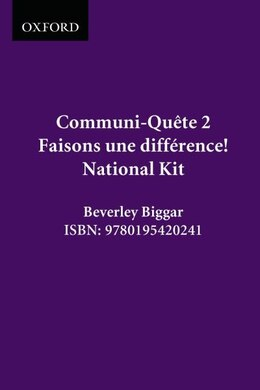 Book Faisons Une Difference! - Kit - Nat. Ed.: Communi-quete 2 by Irene Bernard