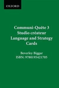 Book Studio createur - Language and Strategy Cards: Communi-Quete 3 by Irene Bernard