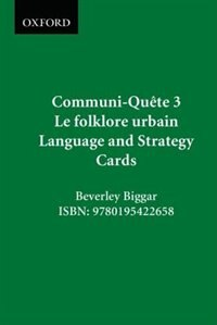Book Urban Legends - Language and Strategy Cards: Communi-Quete 3 by Irene Bernard