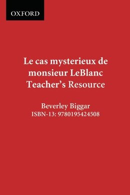 Book Communi-Quete: Le cas mysterieux de monsieur Leblanc: Teacher Resource Book with CD, Video DVD, CD… by Irene Bernard