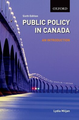 Book Public Policy in Canada: An Introduction by Lydia Miljan