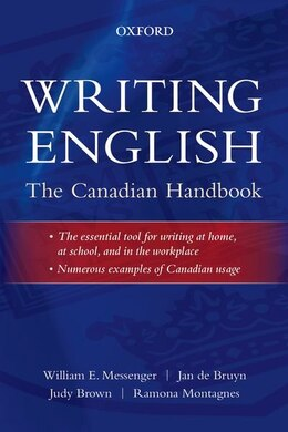 Book Writing English: The Canadian Handbook by William E. Messenger