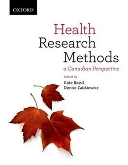 Book Health Research Methods: A Canadian Perspective by Kate Bassil