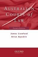 Book Australian Courts of Law 4e by James Crawford