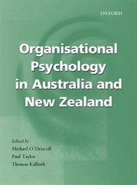 Book Organisational Psychology In New Zealand And Australia by Michael ODriscoll