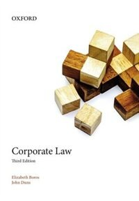Book Coporate Law by Elizabeth Boros