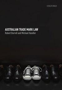 Book Australian Trademark Law by Robert Burrell