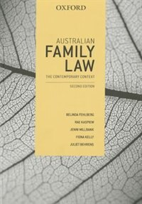 Book Australian Family Law: The Contemporary Context by Belinda Fehlberg
