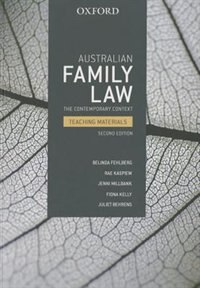 Book Australian Family Law: The Contemporary Context Teaching Materials by Belinda Fehlberg