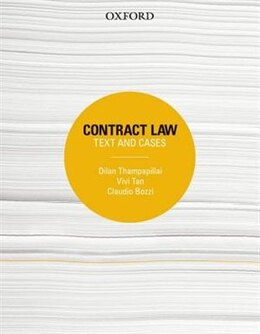 Book Contract Law: Text and Cases by Dilan Thampapillai