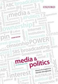 Book Media and Politics: An Introduction by Wayne Errington