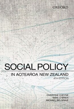 Book Social Policy in Aotearoa New Zealand: A Critical Introduction by Christine Cheyne