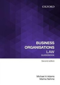 Book Business Organisations Law Guidebook by Michael A. Adams