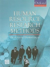 Book Human Resource Research Methods by Dipak Kumar Bhattacharyya