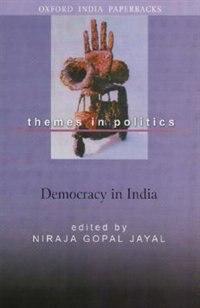 Book DEMOCRACY IN INDIA by Niraja Gopal Jayal