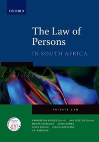 Book The Law of Persons in South Africa by Ann Skelton