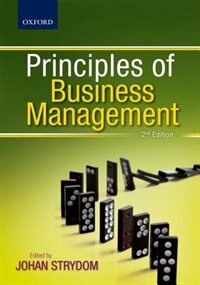 Book Principles of Business Management by Johan Strydom