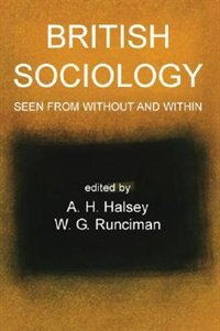Book British Sociology Seen From Without And Within by A H Halsey
