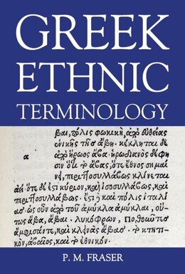 Book Greek Ethnic Terminology by P. M. Fraser