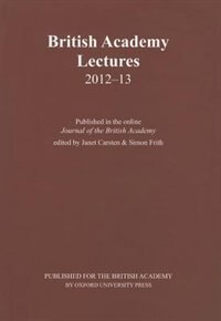Book British Academy Lectures 2012-13 by Janet Carsten
